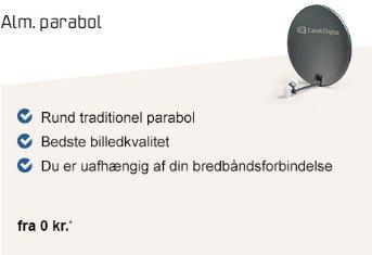 Bestil Canal Digital parabol TV-pakker online