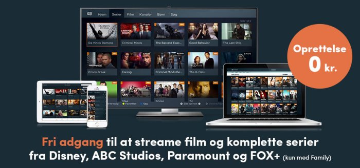 Streaming med Canal Digital Family pakke